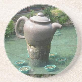 Invitación de la fiesta del té:  Parque chino del  Posavasos Diseño