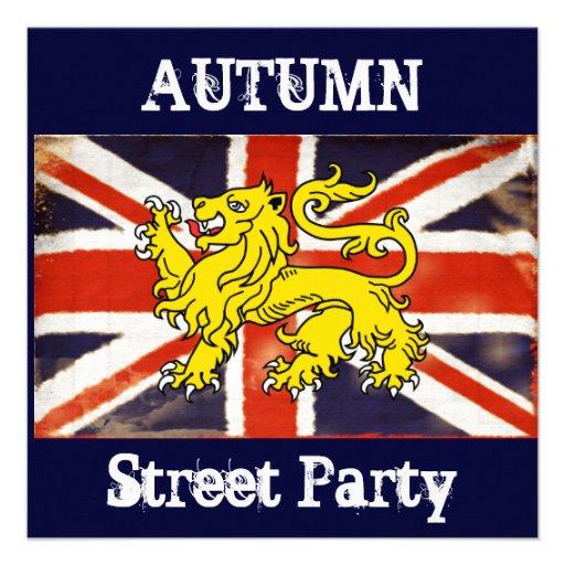 Invitación de la fiesta en la calle del otoño de U