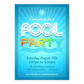 Invitación de la fiesta en la piscina - celebració