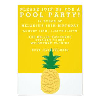 Invitación de la fiesta en la piscina de la piña