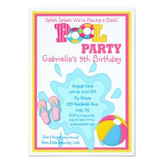 Invitación de la fiesta en la piscina de los