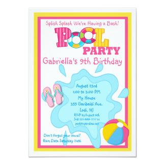 Invitación de la fiesta en la piscina de los invitación 11,4 x 15,8 cm