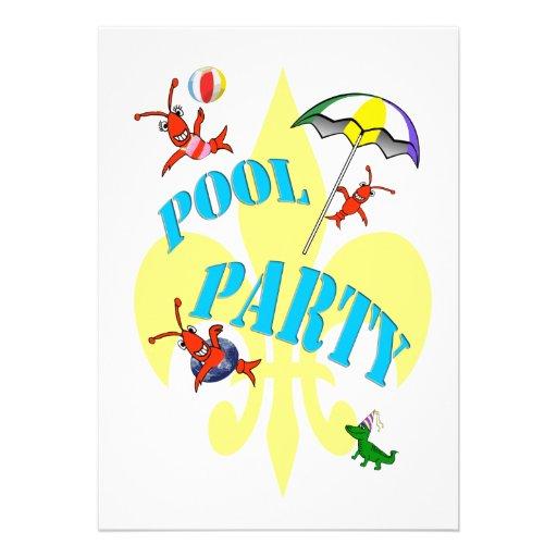 Invitación de la fiesta en la piscina de los cangr