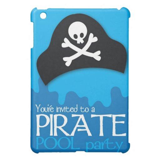 Invitación de la fiesta en la piscina del pirata