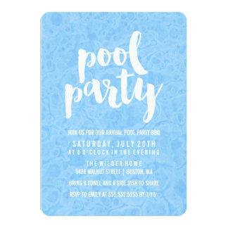 Invitación de la fiesta en la piscina del verano
