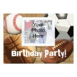 Invitación de la foto, cumpleaños de encargo del t