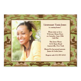 Invitación de la foto de Brown del camuflaje
