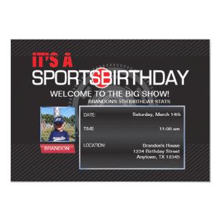 Invitación de la foto del cumpleaños de los