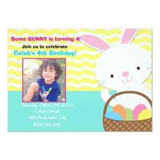 Invitación de la foto del cumpleaños de Pascua del