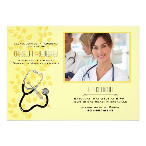 Invitación de la foto del equipamiento médico