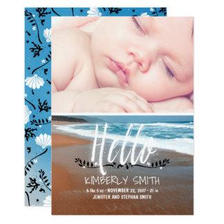 Invitación de la foto del nacimiento del bebé de
