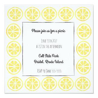Invitación de la frontera del limón