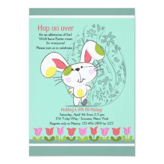 Invitación de la frontera del tulipán de Pascua Invitación 12,7 X 17,8 Cm