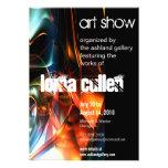 invitación de la galería de arte - flujo
