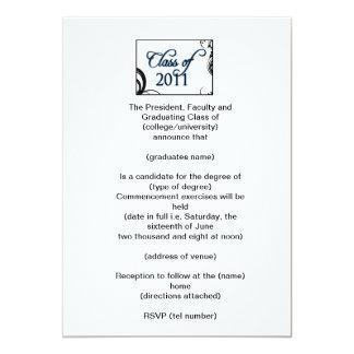 Invitación de la graduación