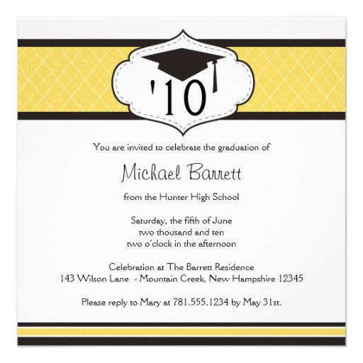 Graduation Party Invitations Wording Examples with good invitations design