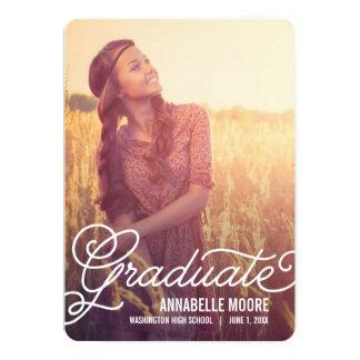 Invitación de la graduación de la capa de la