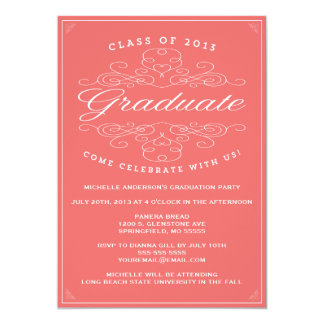 Invitación de la graduación de la elegancia el |