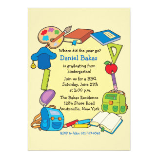 Invitación de la graduación de la escuela primaria