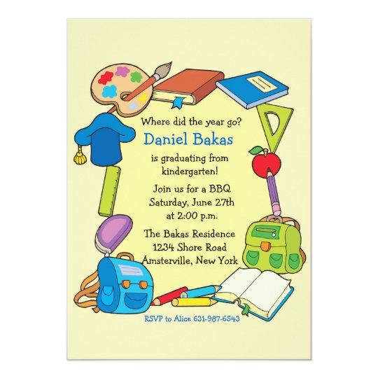 Invitación De La Graduación De La Escuela Primaria Zazzlees