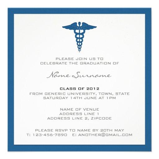 Invitación de la graduación de la Facultad de Medi de Zazzle.