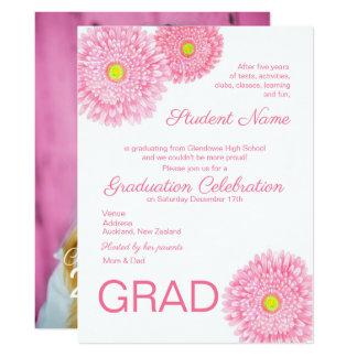 Invitación de la graduación de la flor de la