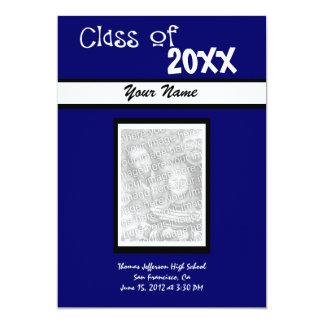 Invitación de la graduación de la foto -