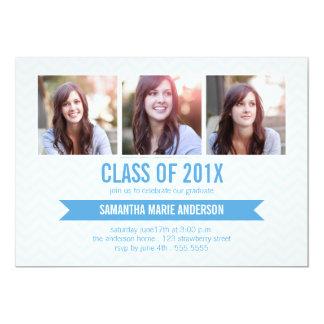 Invitación de la graduación de la foto de Chevron