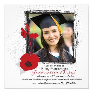 Invitación de la graduación de la foto del marco d