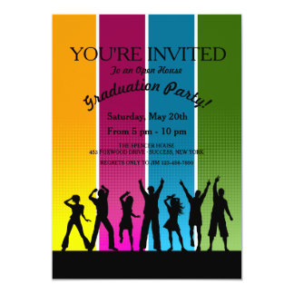 Invitación de la graduación de la gente del fiesta