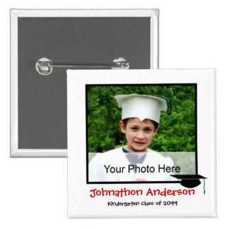 Invitación de la graduación de la guardería de la  chapa cuadrada 5 cm