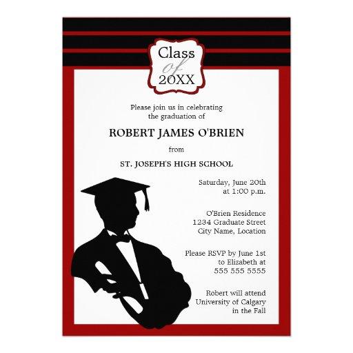 Invitación de la graduación de la silueta