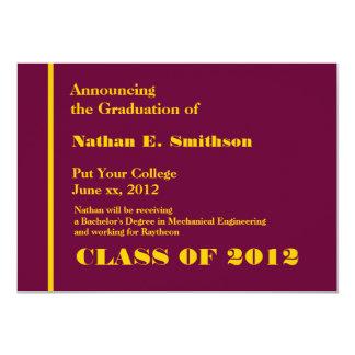 Invitación de la graduación de la universidad de