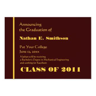 Invitación de la graduación de la universidad del