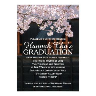 Invitación de la graduación de las flores de