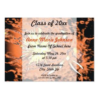 Invitación de la graduación de los fuegos
