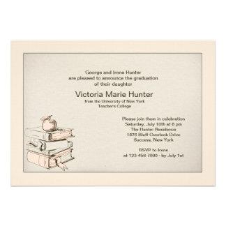 Invitación de la graduación de los libros del prof