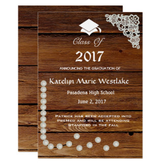 invitación de la graduación de madera 20XX, del