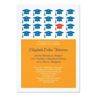 Invitación de la graduación del casquillo