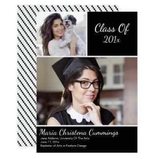 Invitación de la graduación del escolar del modelo