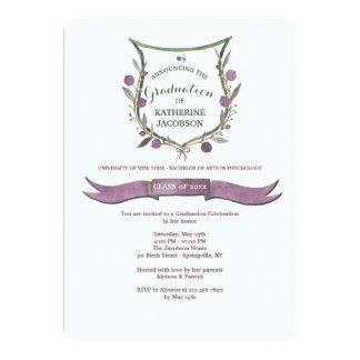 Invitación de la graduación del escudo de la baya