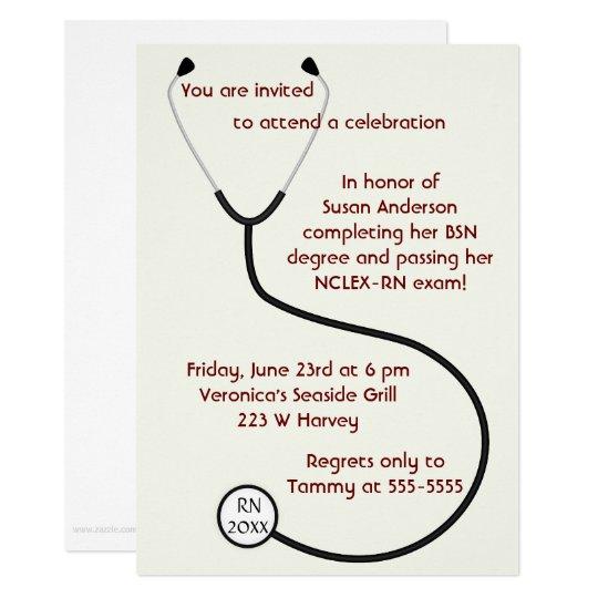 Invitación de la graduación del grado médico o de | Zazzle.es