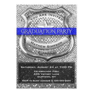 Invitación de la graduación del oficial de policía