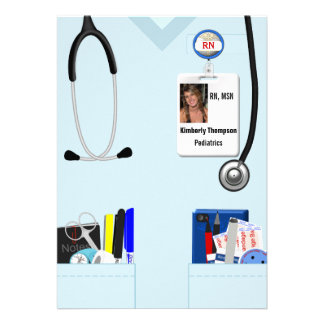 Invitación de la graduación del oficio de enfermer