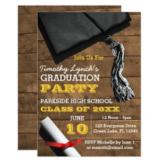 Invitación de la graduación del oro de la borla de