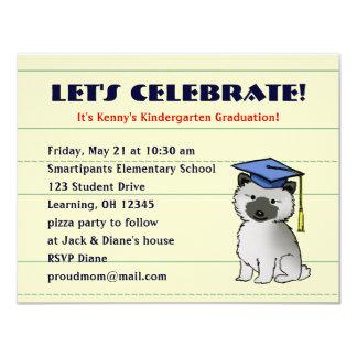 Invitación de la graduación del perrito del