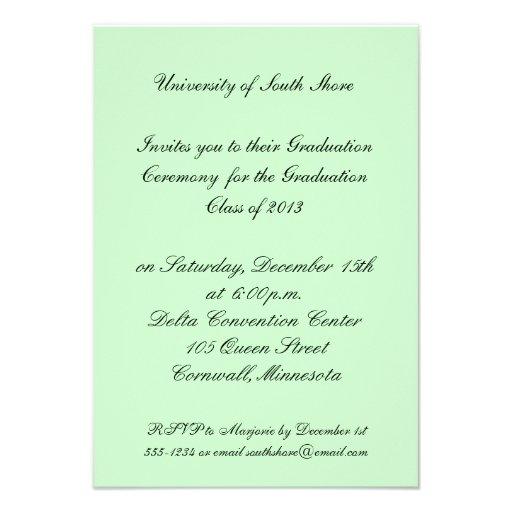 Invitación de la graduación para 2013