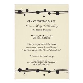 Invitación de la gran inauguración de Mercedes-Ben