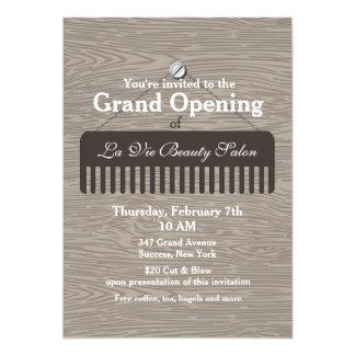 Invitación de la gran inauguración del salón de la
