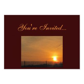 Invitación de la granja de la puesta del sol invitación 12,7 x 17,8 cm